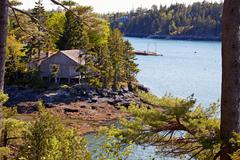 Stock Photo of View of Acadia National Park, Maine.