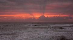 Sea SKy Sunrise Clouds 06svv Stock Footage