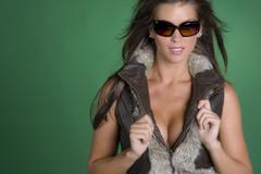 Young Brunette Model - stock photo
