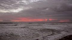Sea SKy Sunrise Clouds 09svv - stock footage