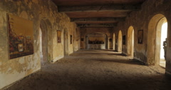 Ground floor of an Colonial house, Goree, Senegal (4K) Stock Footage