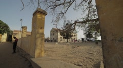 A corner of a street in Goree, Senegal Stock Footage