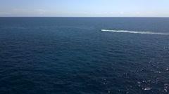 10s Speedboat Distance Mediterranean Off Menorca Silent Stock Footage