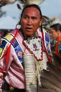 American Indian Pow Wow participant - stock photo