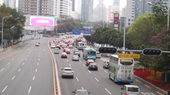Shenzhen Shennan Avenue, in China Stock Footage
