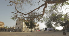 The courtyard of a colonial house, Goree, Senegal (4K) Stock Footage