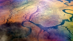 Desert river aerial, Glen Canyon 4K Stock Footage