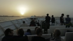 Sunset view from a ferry, Dakar, Senegal Stock Footage