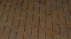 City brick walkway texture, 4K Stock Footage