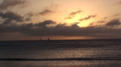 Beach Series - Caribbean Beach Sunset Aruba 10 Stock Footage