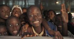 School kids smiling, Dakar, Senegal (4K) Stock Footage