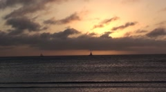Beach Series - Aruba Beach Sunset timlapse - stock footage