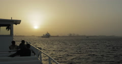 A transportation ferry in Dakar, Senegal (4K) Stock Footage