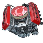shiny motor isolated on white - stock illustration