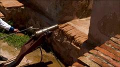 Cannon Blast Spanish Empire Stock Footage