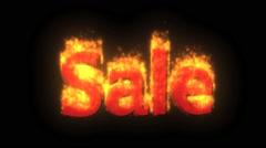 Fire Sale Stock Footage