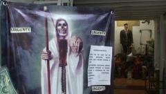 020Santa Muerte and Malverde Stock Footage