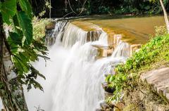 Beautiful waterfall in national park - stock photo
