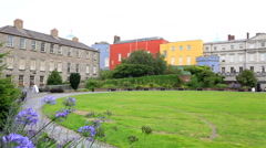 Dublin Castle, seen from park to south, outside the walls Stock Footage