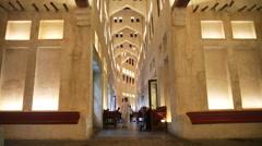 Arabic hallway style middle east muslim Stock Footage