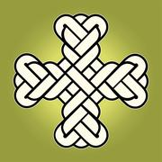 vector image of twisted Christian Holy cross - stock illustration