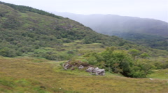 Beautiful landscape of Ladies View in Killarney National Park Stock Footage