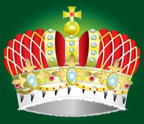 Abstract Medieval royal crown vector illustration Stock Illustration