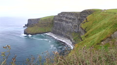 Cliffs of Moher and Atlantic Ocean Stock Footage