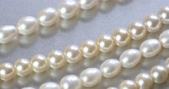 4k pearl necklace jewelry. Stock Footage