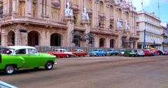 4K Downtown Havana Cuba, Old Vintage American Automobiles Stock Footage