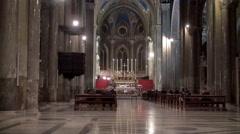Church Service at the Santa Maria sopra Minerva (Saint Mary above Minerva). Stock Footage