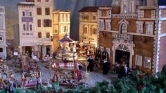 Christmas diorama at Sant'Eustachio Roman Catholic titular church. - stock footage