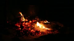 bonfire in the night - stock footage