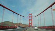 Stock Video Footage of San Francisco Golden Gate Bridge driving through POV shot