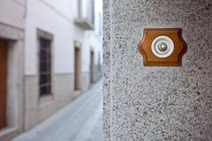 Ancient style doorbell button - stock photo
