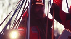 Stock Video Footage of Fedor Konyukhov record of duration of flight