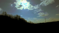 Shadows and Sky Stock Footage