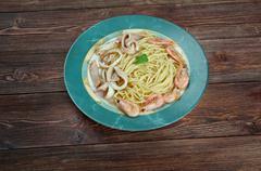 Spaghetti ai frutti di mare Stock Photos