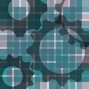 abstract blur background - with gears - stock illustration