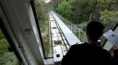 30s Funicular Descending Silent Stock Footage