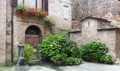 Stock Photo of Buonconvento (Tuscany, Italy), typical house