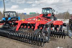 Hinged equipment for tractor. Tyumen. Russia - stock photo