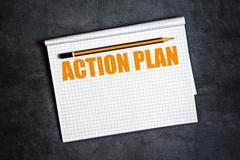 Action Plan Copy Space - stock photo