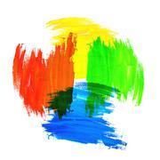 Mixing Colors Stock Photos