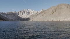 4K Winter lake and mountain peaks Stock Footage