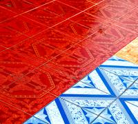 asia in  thailand kho samui  abstract cross texture - stock photo