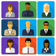 Business set of stylish avatars woman and man Piirros