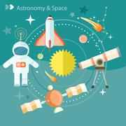 Space and astronomy Stock Illustration