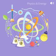 Physics energy Stock Illustration