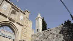 Church Of St John The Baptist Ein Karem Jerusalem israel Stock Footage